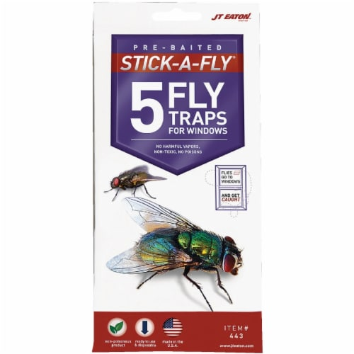 JT Eaton Stick-A-Fly Disposable Indoor Fly Trap (5-Pack) 443 Perspective: front
