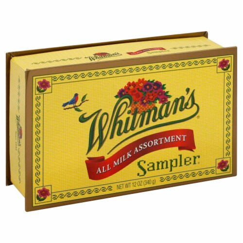 Whitman's Sampler Milk Chocolate Boxed Chocolate Perspective: front