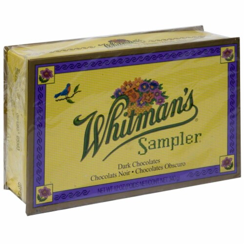 Whitman's Sampler Dark Chocolate Boxed Chocolate Perspective: front