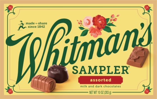 Whitman's Assorted Milk and Dark Chocolate Sampler Perspective: front