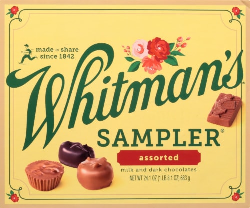 Whitman's Sampler Assorted Milk and Dark Chocolates Perspective: front