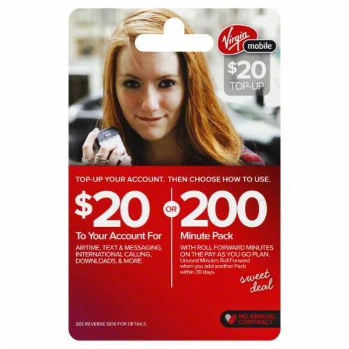 King Soopers - Virgin Mobile $20 Phone Card, 1 Count