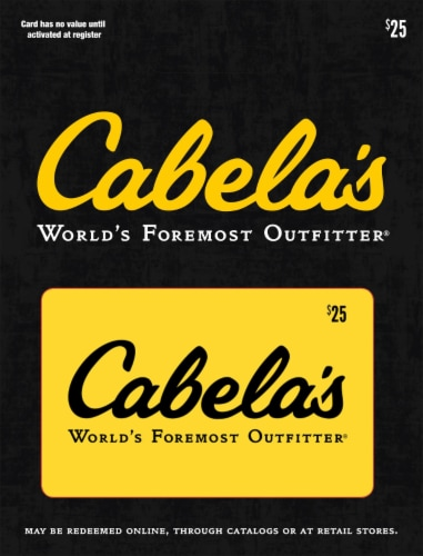 Cabela's $25 Gift Card Perspective: front