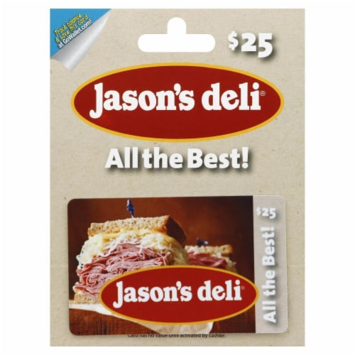 Jason's Deli $25 Gift Card Perspective: front