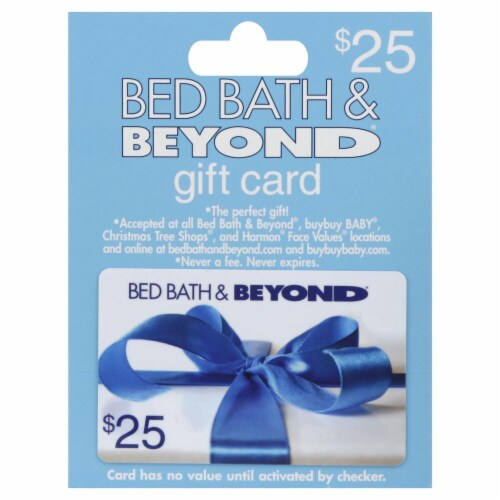 Bed Bath & Beyond $25 Gift Card Perspective: front
