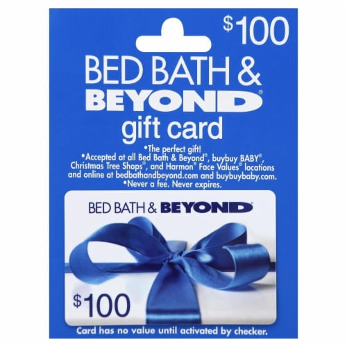 Bed Bath & Beyond $100 Gift Card Perspective: front