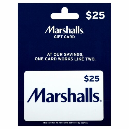 Marshalls $25 Gift Card Perspective: front