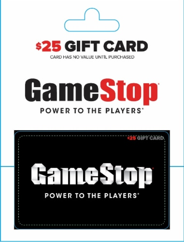Gamestop $25 Gift Card Perspective: front