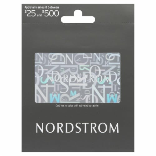Nordstrom Variable Amount Gift Card Perspective: front