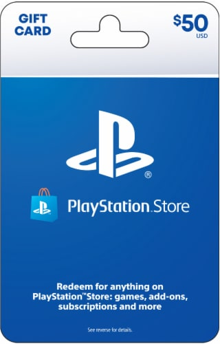Sony PlayStation Network $50 Gift Card Perspective: front