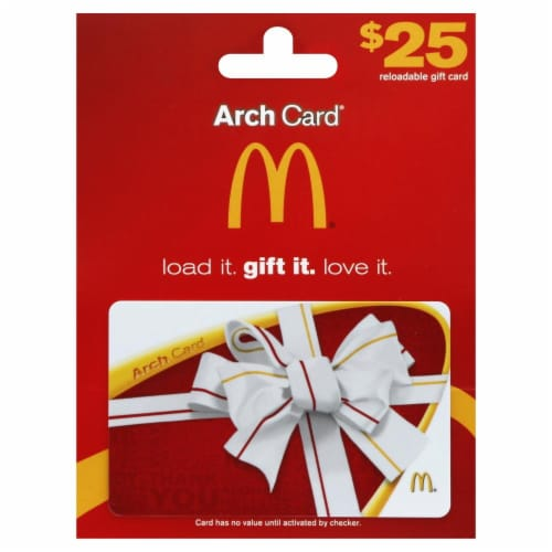 McDonald's $25 Gift Card Perspective: front