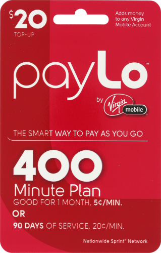 Fred Meyer - Virgin Mobile PayLo $20 Gift Card, EACH