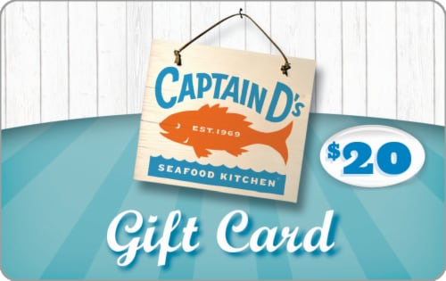 Captain D's Seafood Kitchen $20 Gift Card Perspective: front