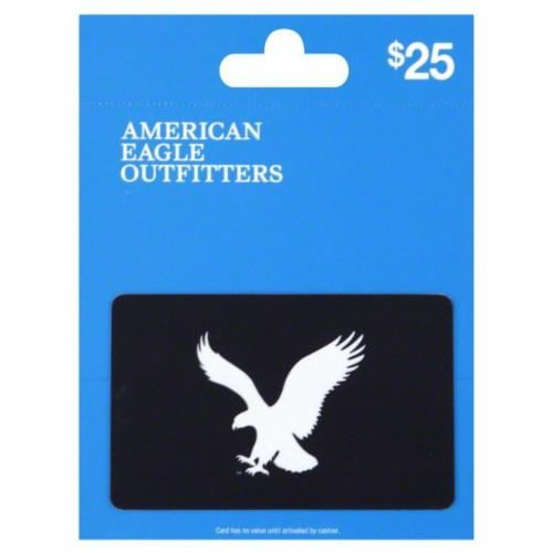 American Eagle $25 Gift Card Perspective: front