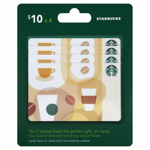 Starbucks $10 Gift Card Multipack Perspective: front