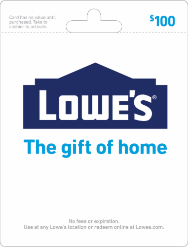 Lowe's $100 Gift Card Perspective: front