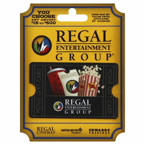 Regal Cinemas Variable Amount Gift Card Perspective: front