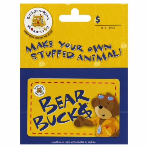 Build-A-Bear Variable Amount Gift Card Perspective: front