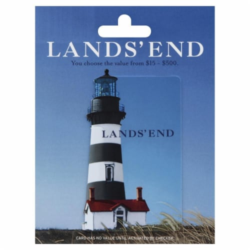 Land's End $15-$500 Gift Card Perspective: front