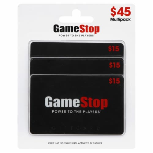 Gamestop $45 Gift Card Multipack Perspective: front