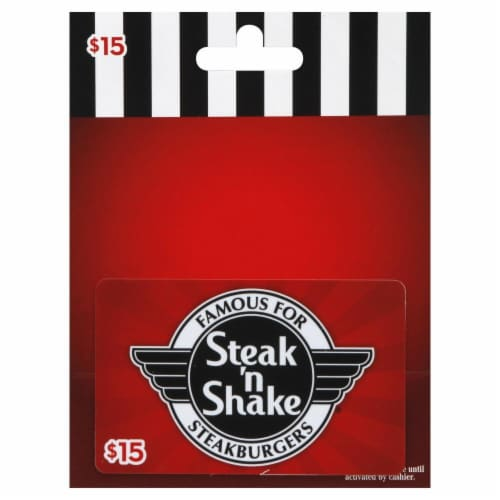 Steak 'n Shake $15 Gift Card Perspective: front