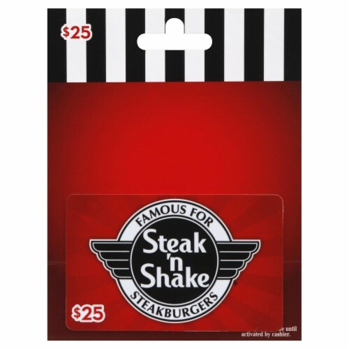 Steak 'n Shake $25 Gift Card Perspective: front