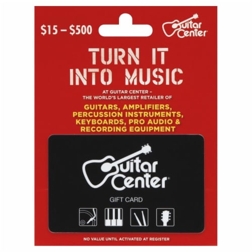 Guitar Center Variable Amount Gift Card Perspective: front