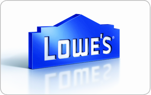 Lowe's Variable Amount Gift Card Perspective: front