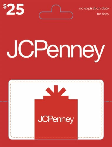 JCPenney $25 Gift Card Perspective: front