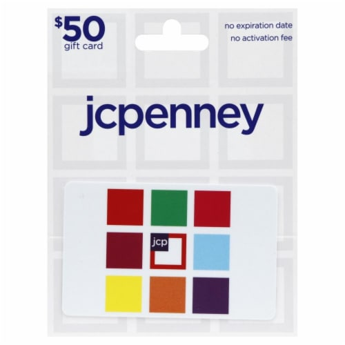 JCPenney $50 Gift Card Perspective: front