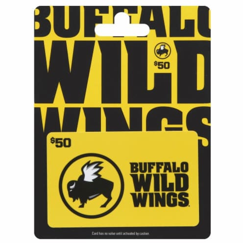 Buffalo Wild Wings $50 Gift Card Perspective: front