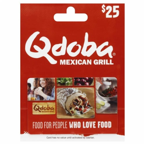 Qdoba $25 Gift Card Perspective: front