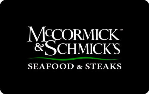 Mccormick & Schmick's $50 Gift Card Perspective: front