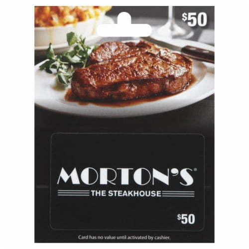 Morton's The Steakhouse $50 Gift Card Perspective: front