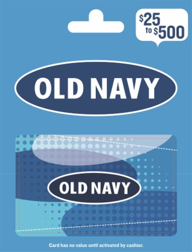 Old Navy $25-$500 Gift Card - After Pickup, visit us online to activate and add value Perspective: front