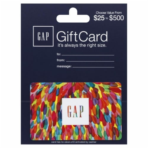 Gap $25-$500 Gift Card Perspective: front