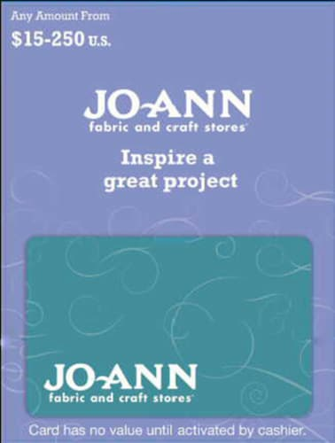 Jo-Ann Stores Variable Amount Gift Card Perspective: front