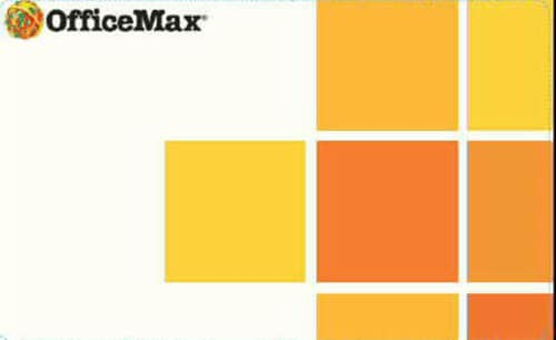 Office Max Variable Amount Gift Card Perspective: front