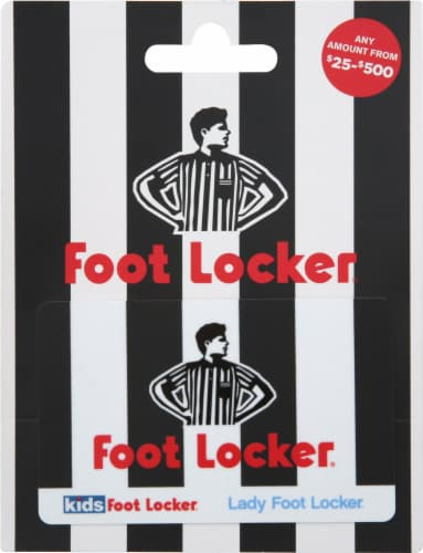 Foot Locker Variable Amount Gift Card Perspective: front