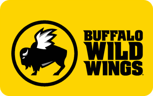 Buffalo Wild Wings Variable Amount Gift Card Perspective: front