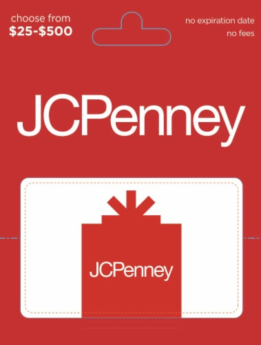 JCPenney $25-$500 Gift Card - After Pickup, visit us online to activate and add value Perspective: front
