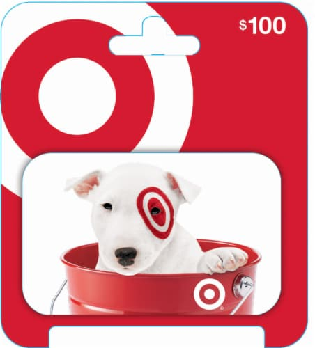 Target $100 Gift Card Perspective: front