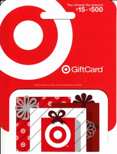Target Variable Amount Gift Card Perspective: front