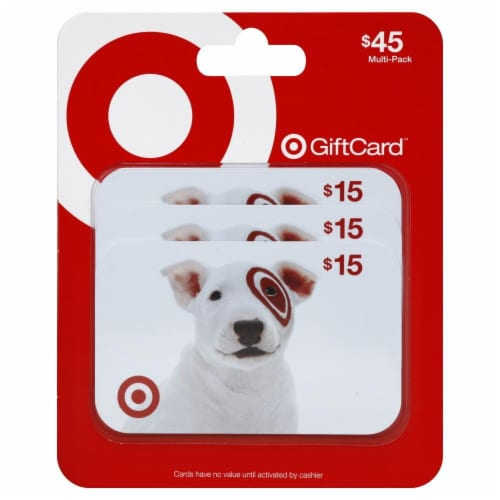 Target $15 Gift Card Multipack Perspective: front