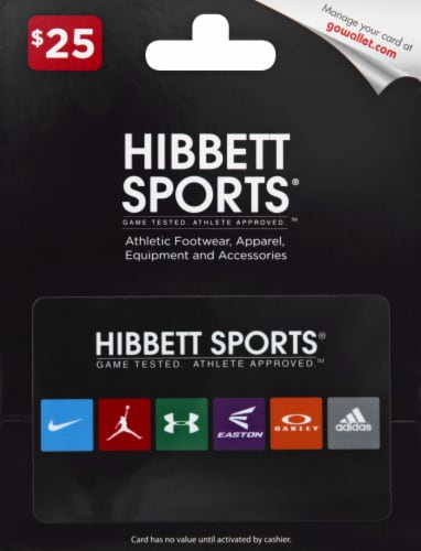 Hibbett Sports $25 Gift Card Perspective: front