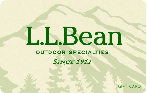L.L. Bean Variable Amount Gift Card Perspective: front