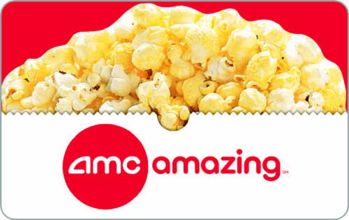 Amc Theaters $15-$100 Card Perspective: front