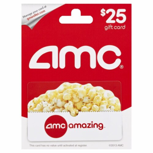 AMC Theaters $25 Gift Card Perspective: front