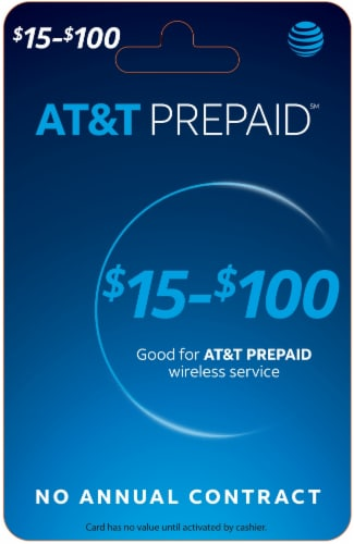 AT&T Variable Amount Phone Card Perspective: front