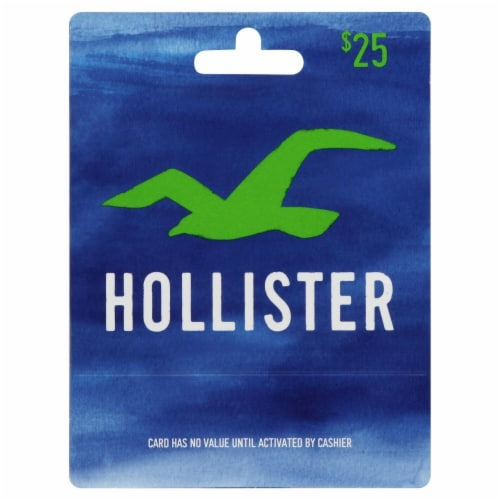 Hollister $25 Gift Card Perspective: front